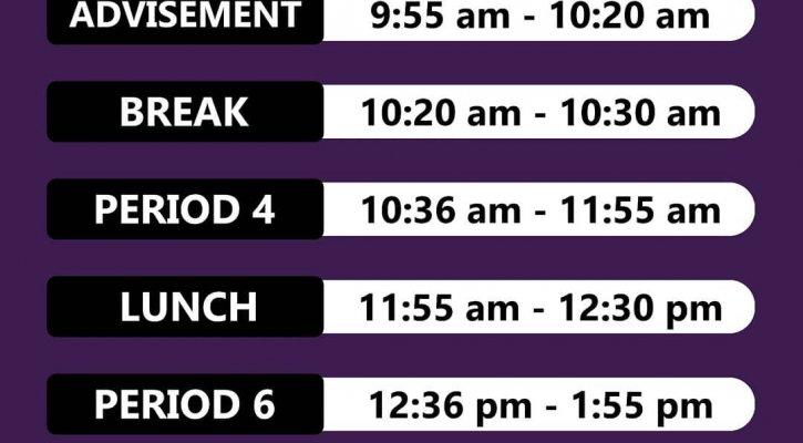 Friday 8:30 start schedule