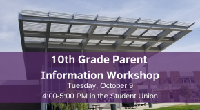 10th Grade Parent Workshop