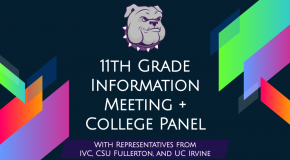 11th Grade Information Meeting + College Panel