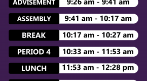 Assembly schedule