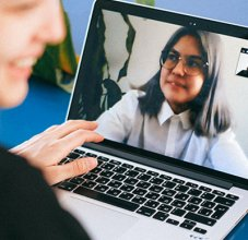 Student Using Zoom